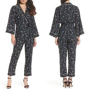 ADELYN RAE Addison Pajama Jumpsuit Romper